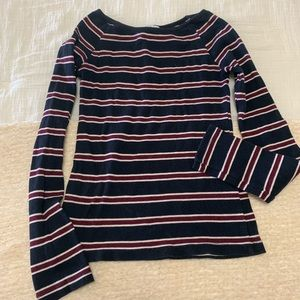 Fitted Striped Long Sleeve Top